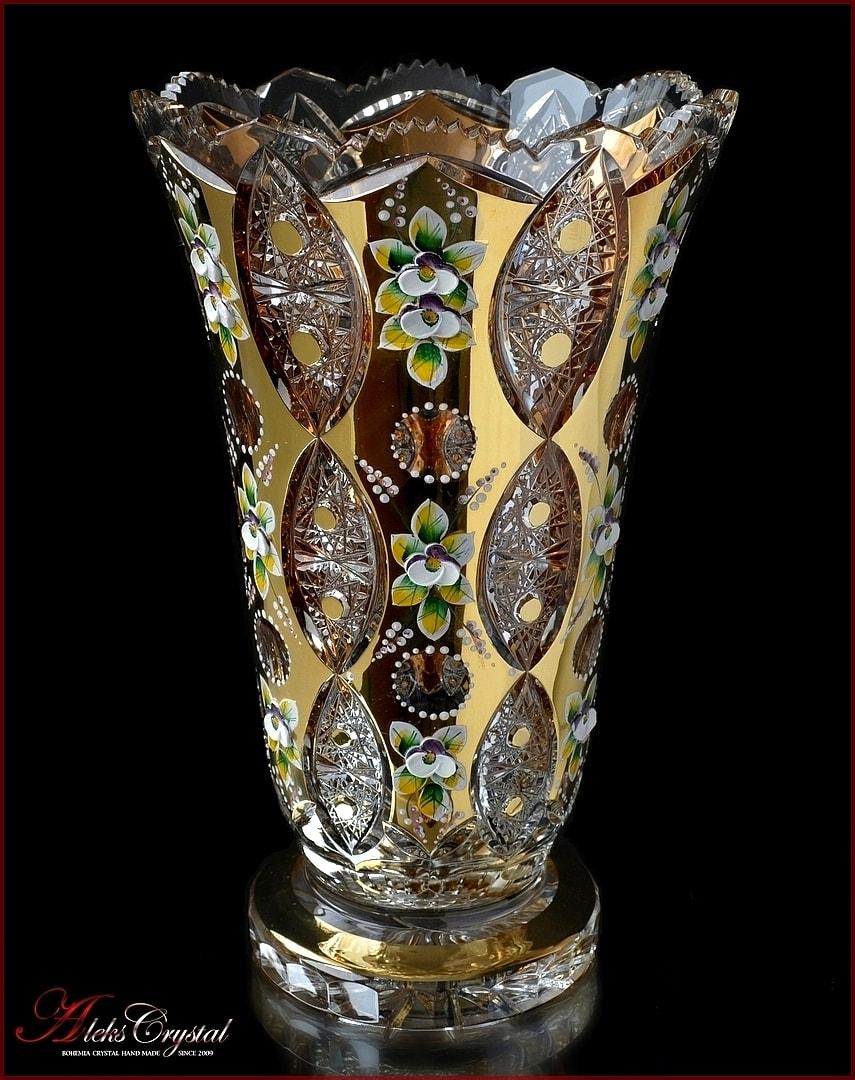 Хрустальная ваза для цветов купить в москве
